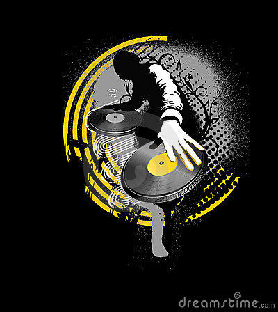 Dj mix - yellow and black