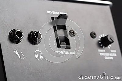 Dj mixer control panel