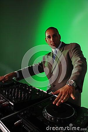 DJ mixing music.