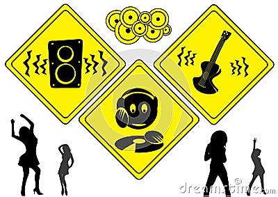 DJ music signs
