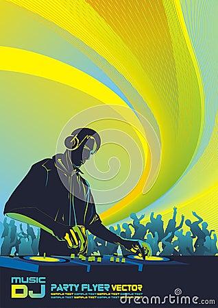 Free DJ Party Background Stock Image - 9272801