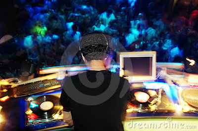 DJ performing in the club