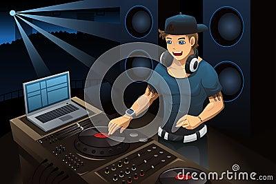 DJ performing in a night club