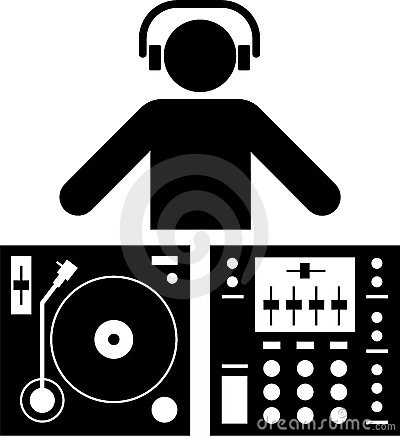 Free DJ Pictogram Royalty Free Stock Photo - 22468055