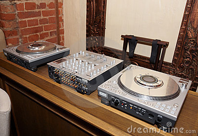 DJ place in a bar or disco