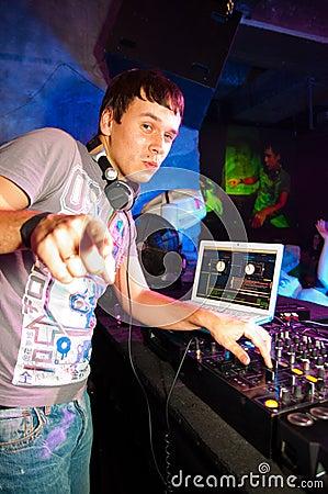 DJ playing Editorial Stock Photo