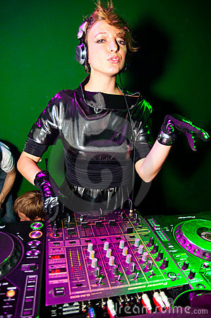 DJ playing Editorial Stock Image