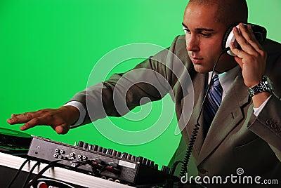 DJ playing music.