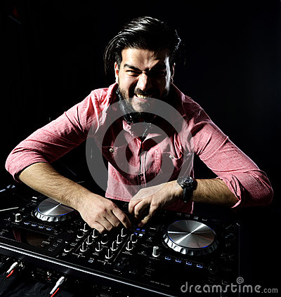 DJ playing music