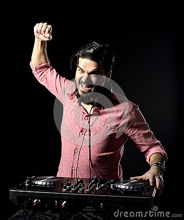 DJ playing music