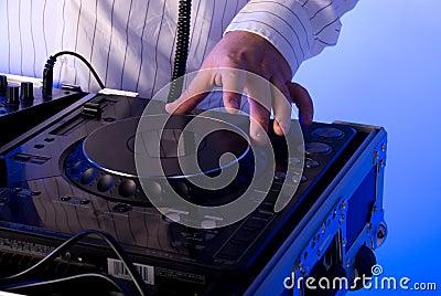 DJ s turntable.