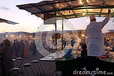 Djeema El Fna night market, Marrakech Editorial Photography