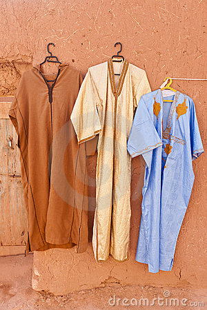 Djellaba - traditional outer robe.