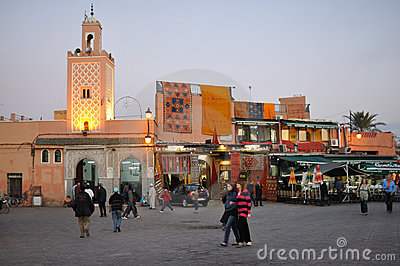 Djemaa El Fna, Marrakesh Editorial Stock Image