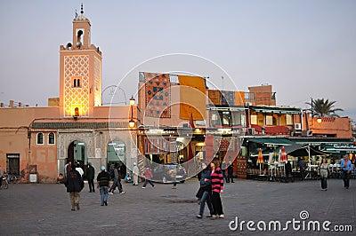 Djemaa El Fna, Marrakesh Editorial Stock Image