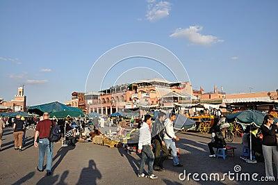 Djemaa el Fna - square in Marrakesh Editorial Stock Photo
