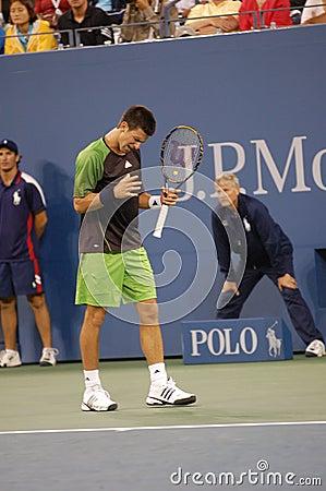 Djokovic Novak at US Open 2008 (8) Editorial Photo