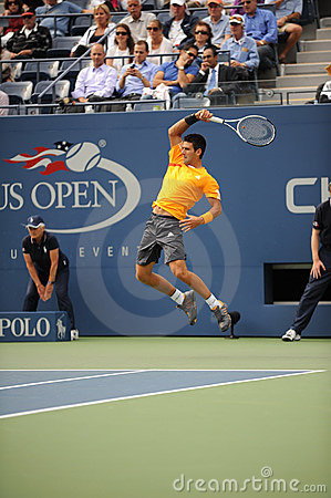 Djokovic Novak at US Open 2009 (14) Editorial Photography