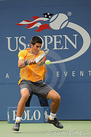 Djokovic Novak at US Open 2009 (9) Editorial Photography