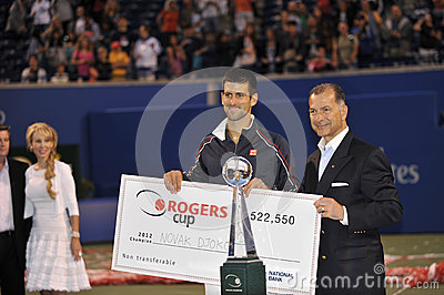 Djokovic winner of Rogers Cup 2012 (2) Editorial Stock Photo