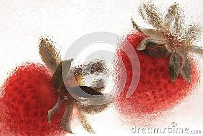 Djupfryst jordgubbe