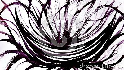 Djur grunge - penseldrag Abstrakt hand - målat element Vinstenergi vektor illustrationer
