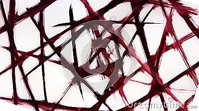 Djur grunge - penseldrag Abstraktion - taggtrådsstängsel Vinstenergi vektor illustrationer