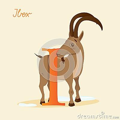 Djurt alfabet med stenbocken