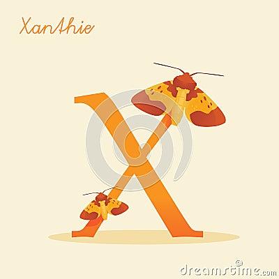 Djurt alfabet med xanthie