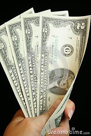 Dólar Bill de dos