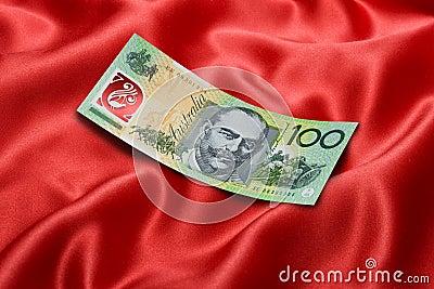 Dólar Bill del australiano ciento