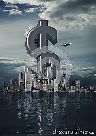 Dólar da cidade do negócio