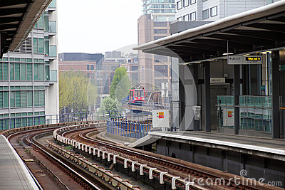 DLR station, London