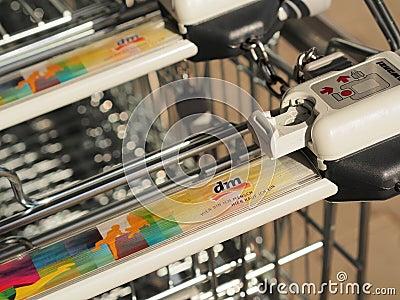 DM shopping carts Editorial Image