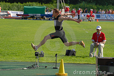 Dmitry Kolosov, triple jump Editorial Stock Image