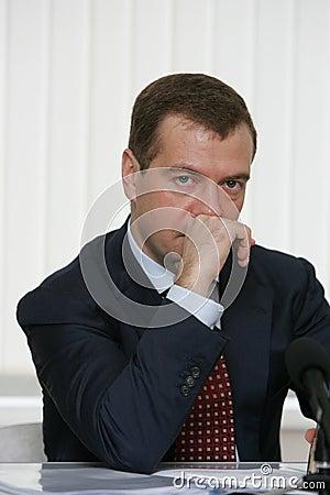 Dmitry Medvedev Editorial Stock Image