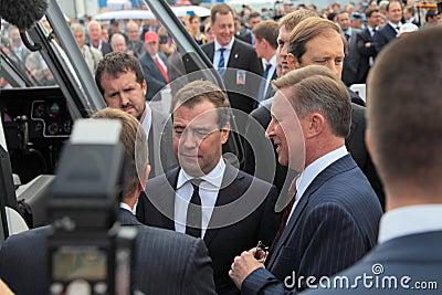 Dmitry Medvedev and Sergei Ivanov Editorial Stock Image