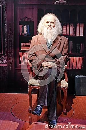 Dmitry Mendeleev live statue Editorial Stock Photo