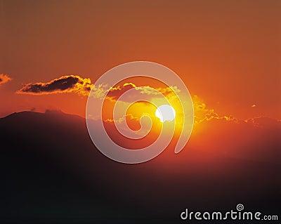 Dämmerung mit Sun