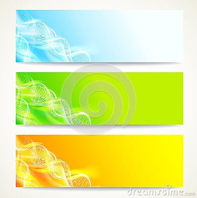 Free DNA Banners Set. Stock Photos - 28790273
