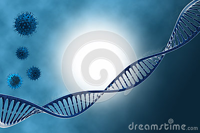 DNA in beautiful background