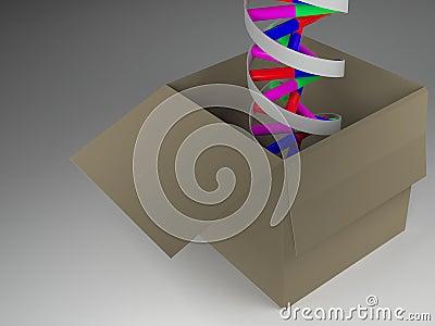 DNA In Box Stock Photo