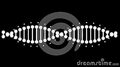 DNA di animali Matte alfa incluso 4k illustrazione di stock