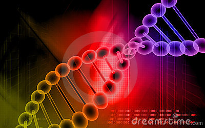 DNA model in red colour