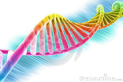 DNA strand bright and colorful
