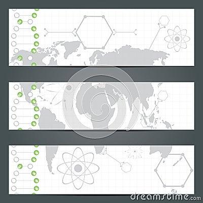 DNA strand illustration on texture.
