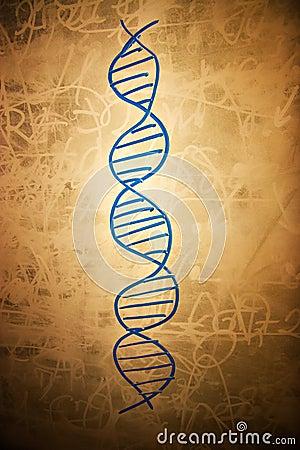 Free DNA Symbol On Dirty School Board Stock Photos - 3795203