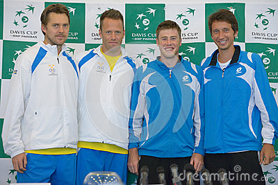 Sweden and Ukraine teams Editorial Stock Photo