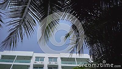 Dnia czasu powierzchowność ustanawia strzał rodzajowy hotelowy mieszkanie własnościowe lub budynek mieszkaniowy w tropikalnej lok zdjęcie wideo