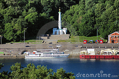 Dnieper River and Column of Magdeburg Rights, Kiev